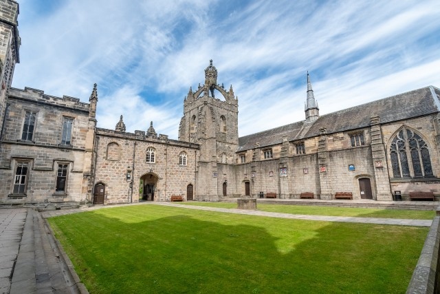 One of the historic buildings of University of Aberdeen