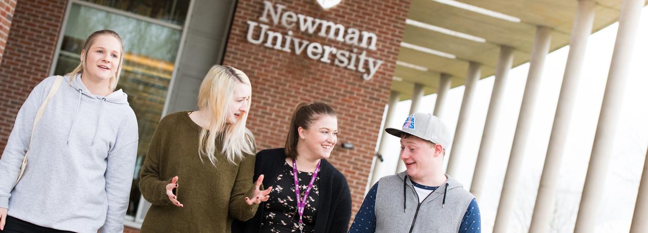 Students at Newman University