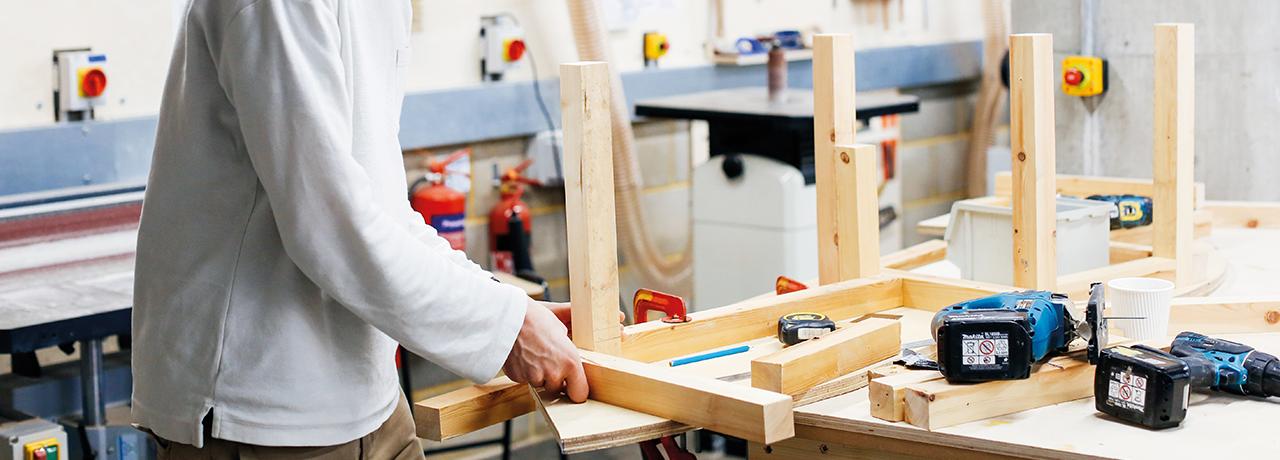 Woodworking studio, Camberwell College of Arts