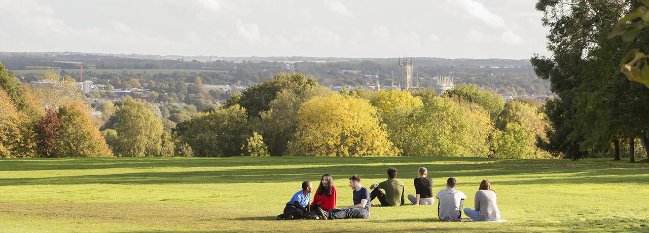 University of Kent - Students relaxing