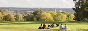University of Kent - Students relaxing