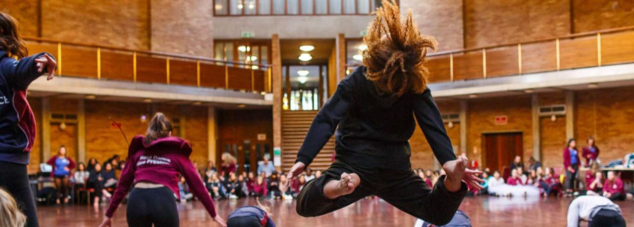 University of Kent - Students dancing