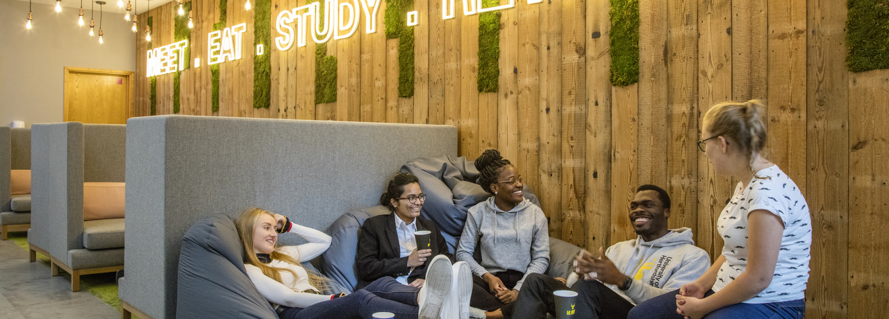 Take a break, we have lots of spaces to relax on campus