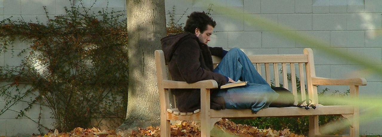 Relaxing outside