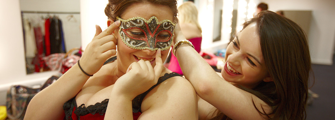 Opera students get into costume