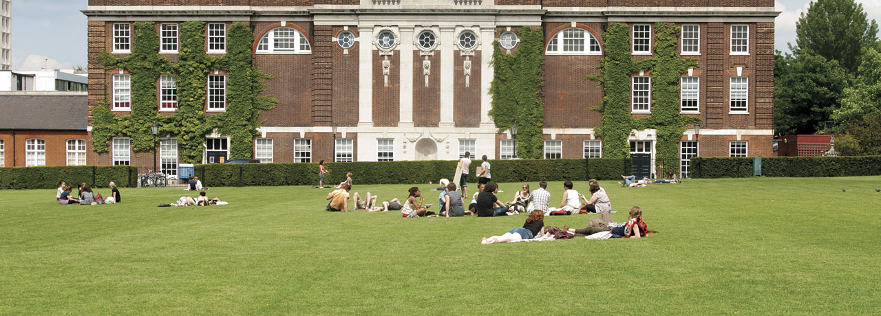 Exterior shot of University