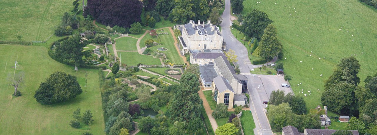 Aerial view of Lackham campus