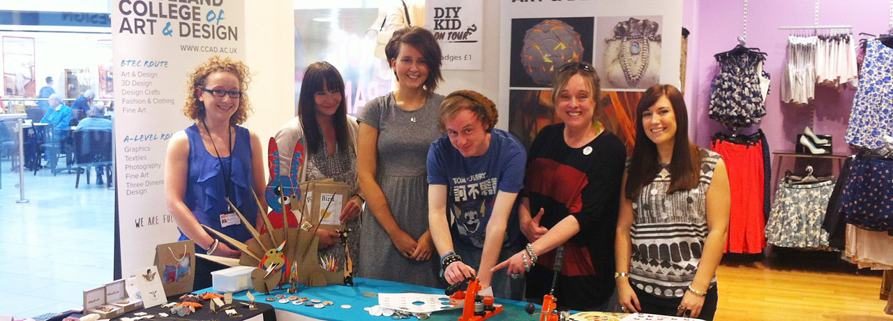 Students at their stall