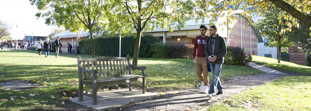 Students on campus Nottingham Trent University